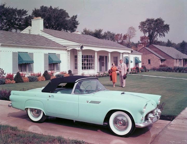 1955 Ford Thunderbird, convertible.