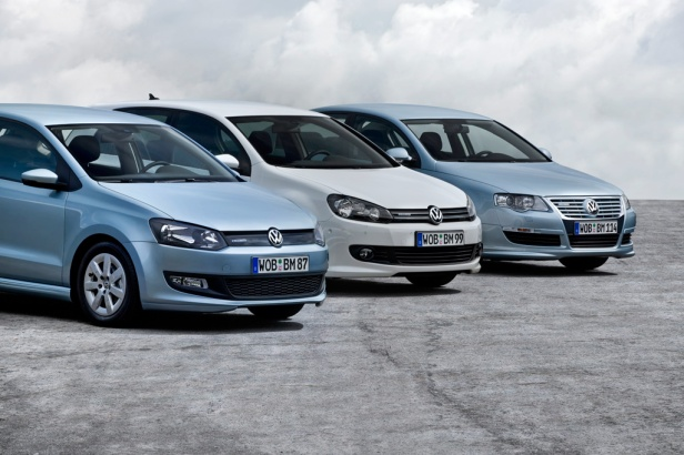 Volkswagen Polo BlueMotion Golf BlueMotion und Passat BlueMotion
