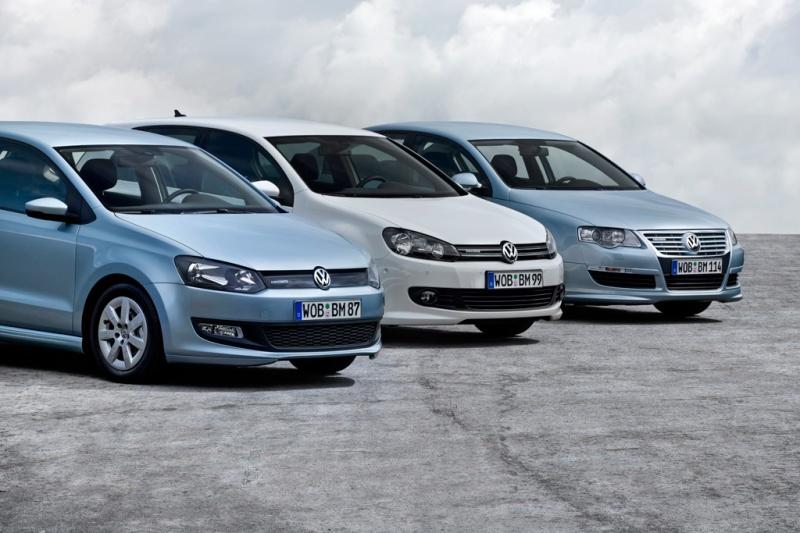 Volkswagen Polo BlueMotion Golf BlueMotion und Passat BlueMotion